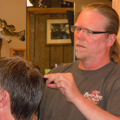 Frank Gambill is a hairdresser in Grand Rapids, MN